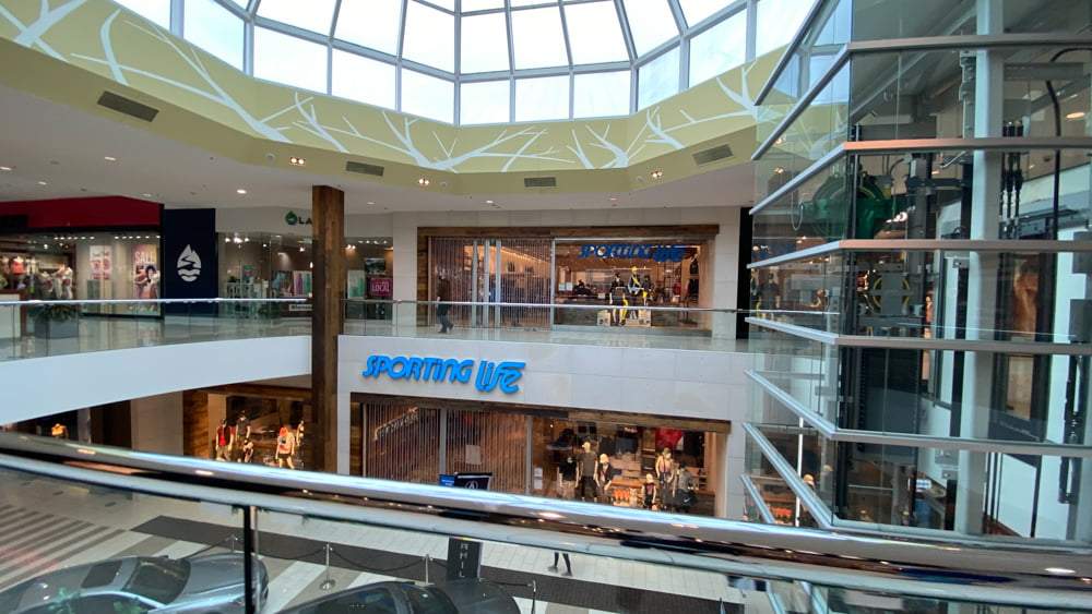 Overall view of Upper Level North in SouthCentre Mall in Calgary