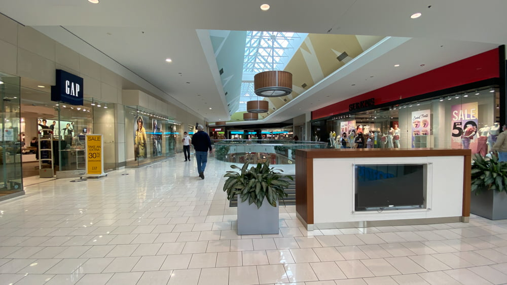 Overview of Upper Level North at SouthCentre Mall in Calgary