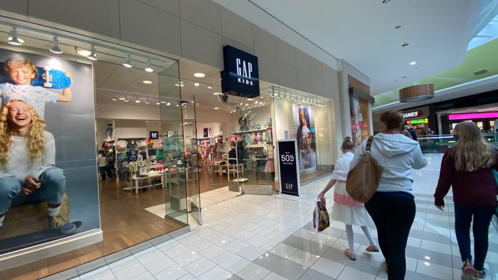 The Gap at SouthCentre Mall in Calgary.