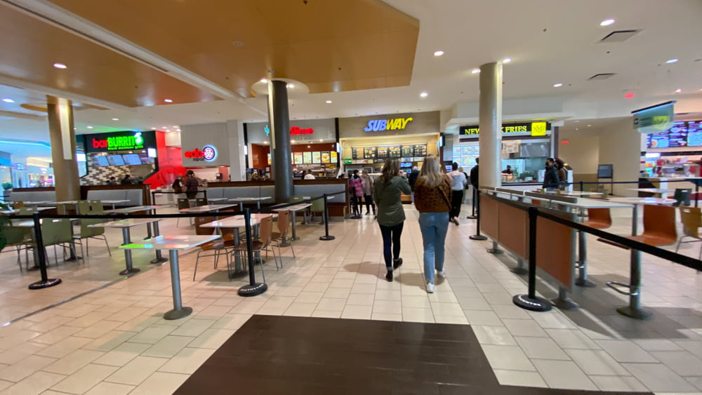 Food court at SouthCentre Mall in Calgary