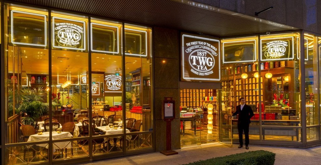 Former TWG Tea Salon & Boutique location at 1070 W Georgia Street in Vancouver