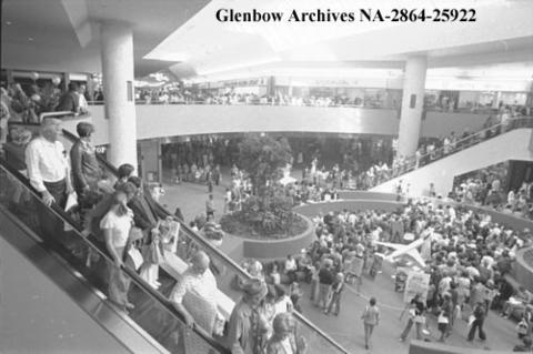 Southcentre shopping mall opening, Calgary, Alberta