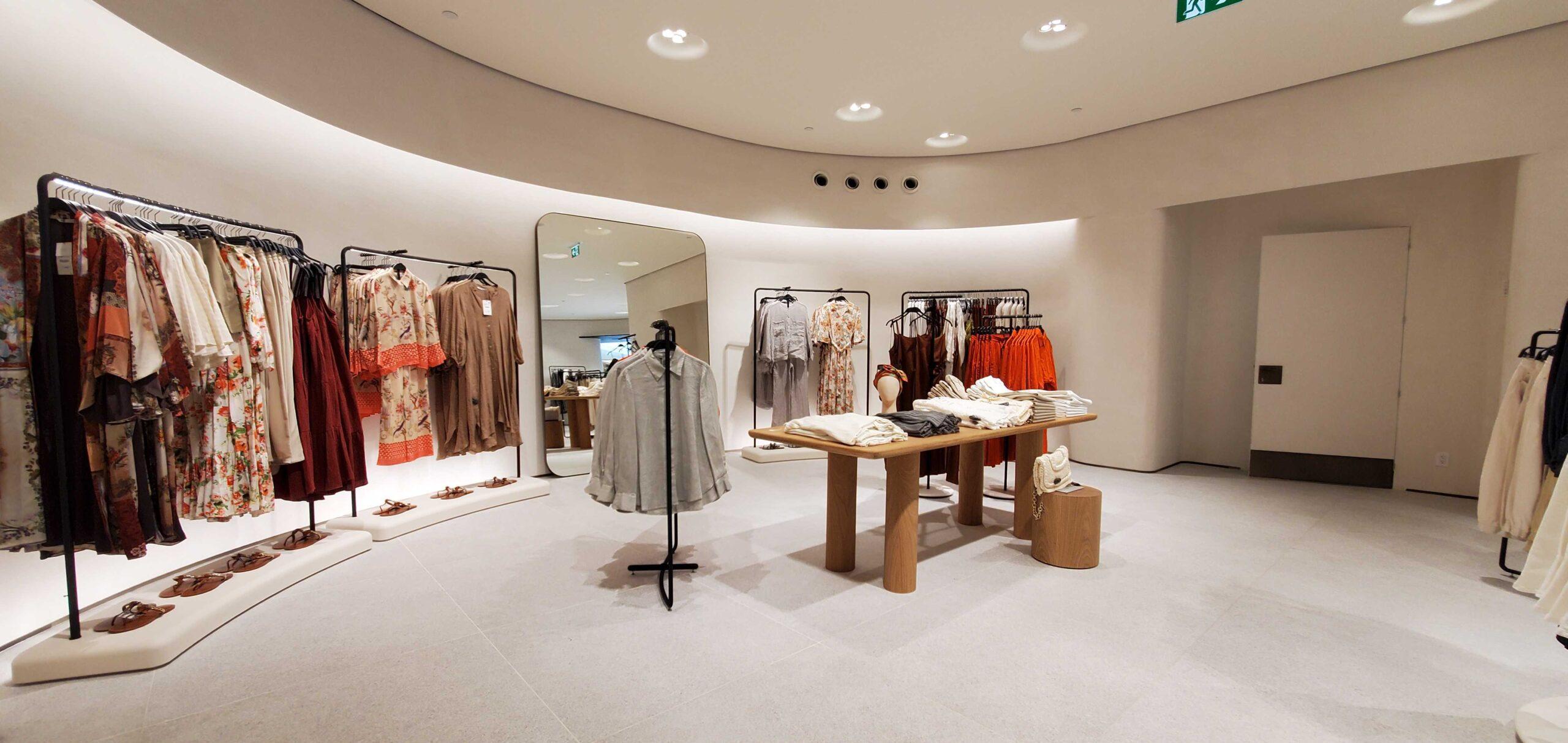 Interior of new Zara on reopening at Metropolis at Metrotown on July 23, 2021