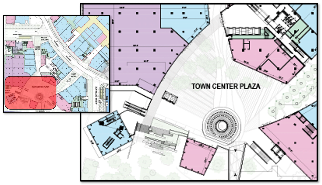 """""""Town Center Plaza"""" at The Amazing Brentwood"""