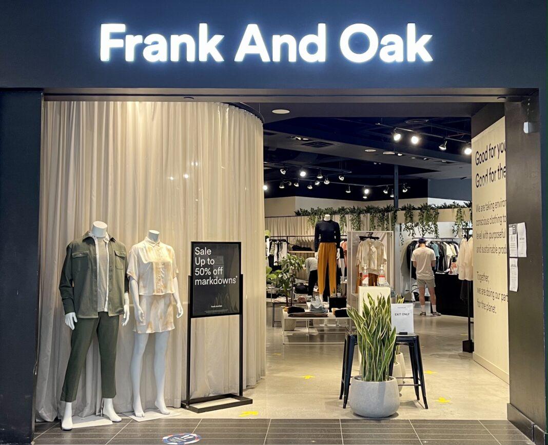 Frank and Oak at CF Toronto Eaton Centre