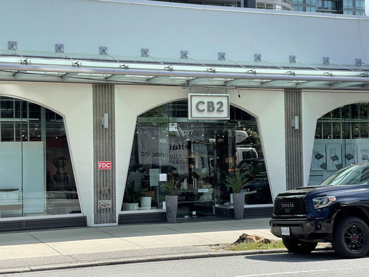 CB2 on Robson Street in downtown Vancouver