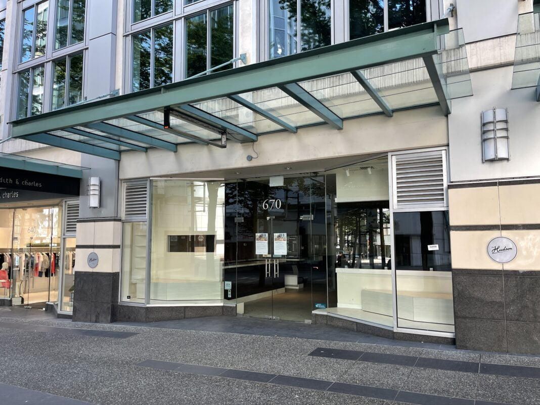 Former FYidoctors location on Granville Street in Vancouver (July 2021)