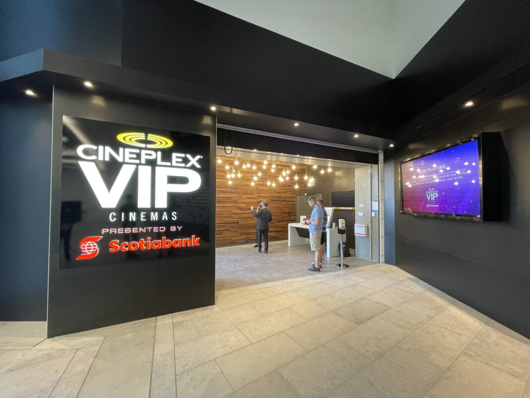 Cineplex VIP entrance at The Amazing Brentwood