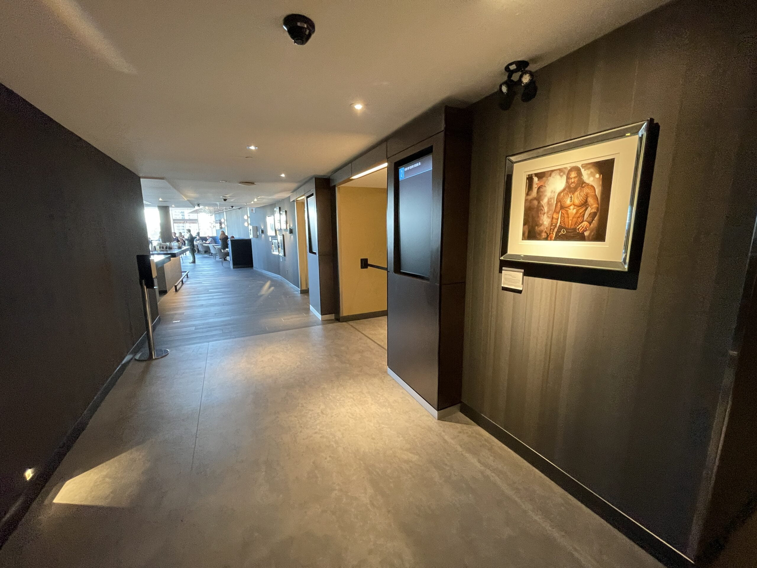 Hallway for Individual Screening Rooms at the Cineplex VIP at The Amazing Brentwood