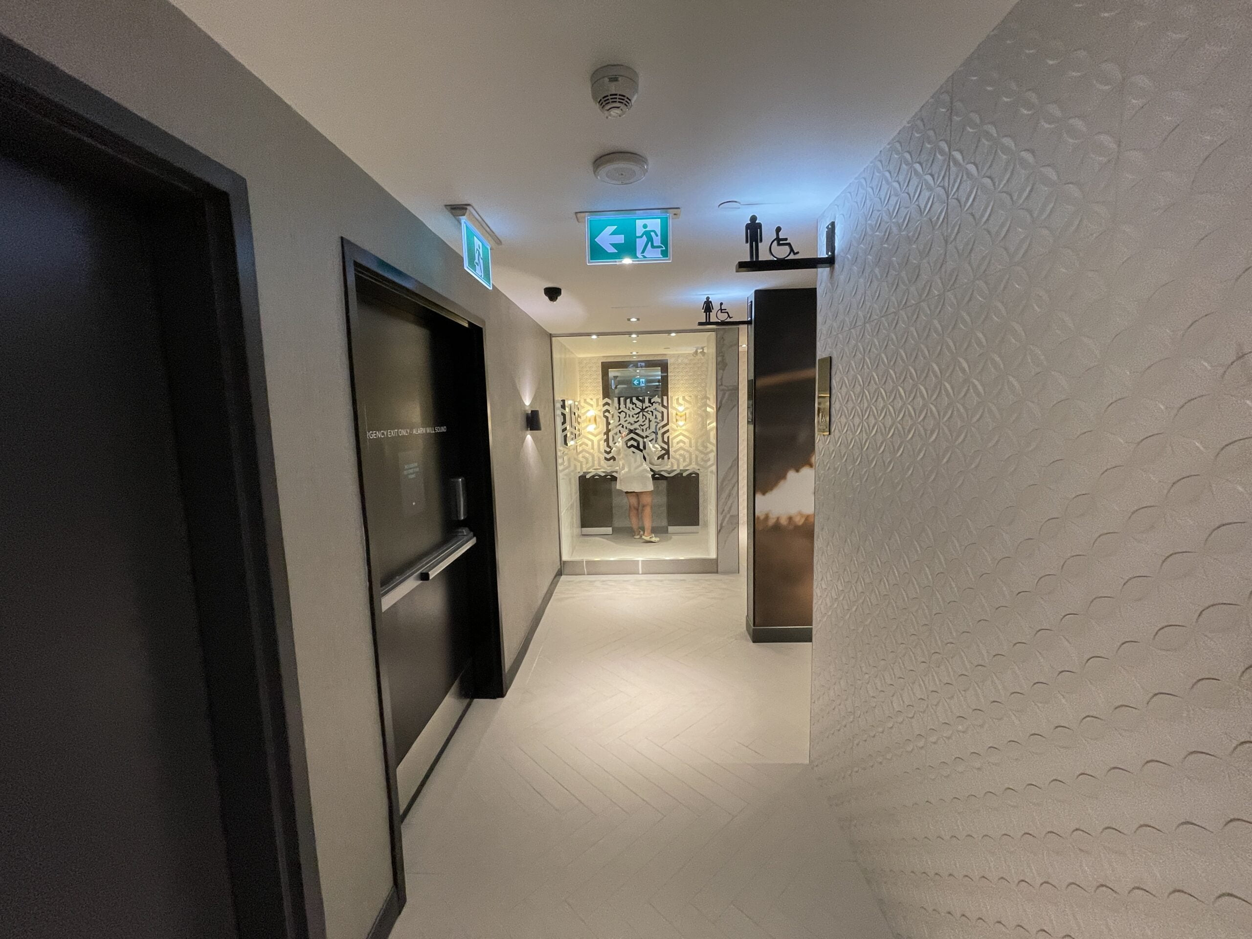 Washroom Entrance at Cineplex VIP at The Amazing Brentwood