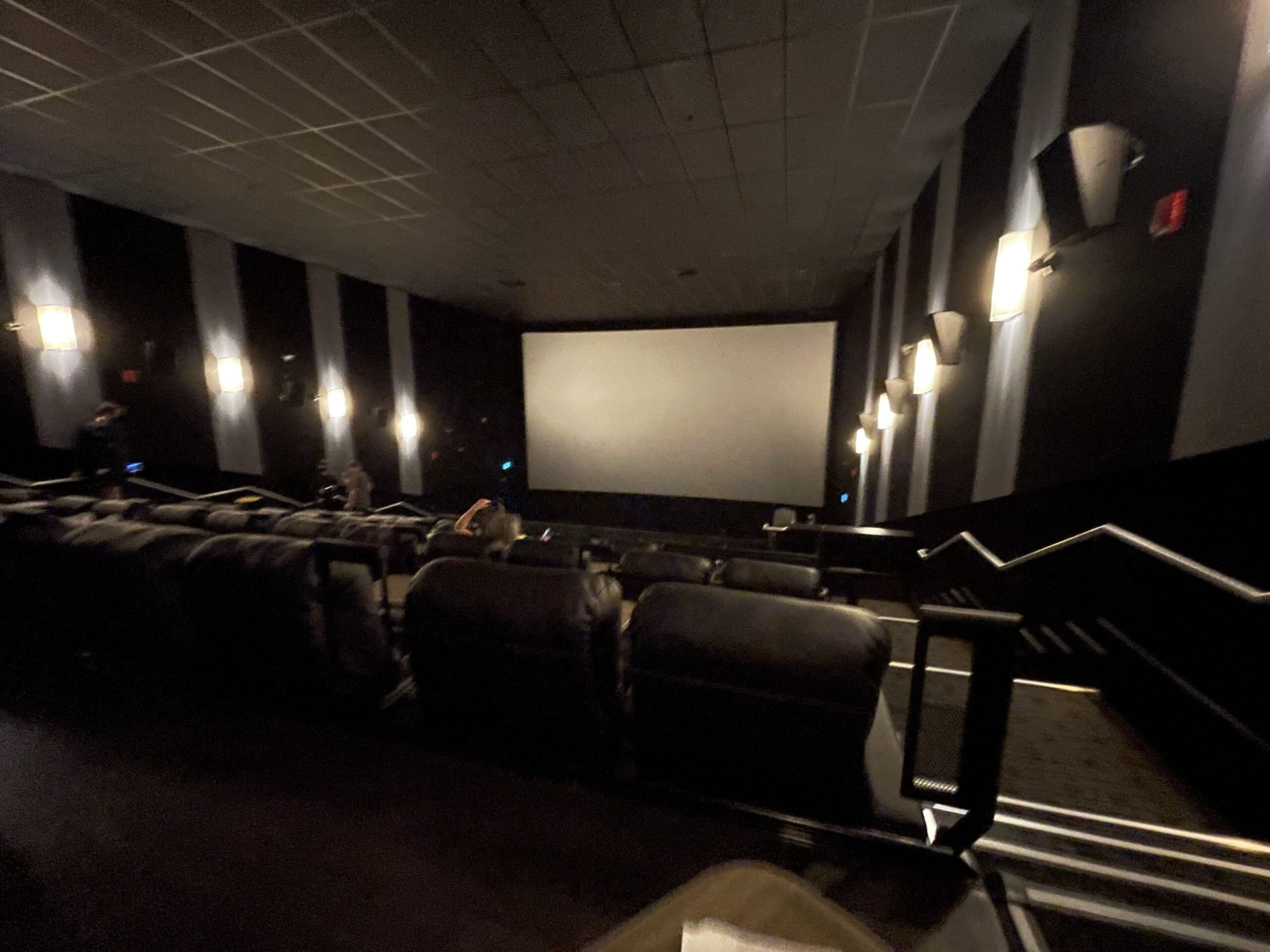 Screen from back row at Cineplex VIP at The Amazing Brentwood