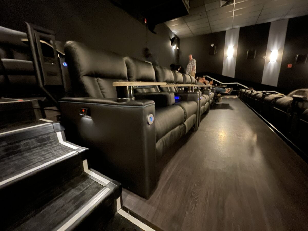 Theatre seats at Cineplex VIP at The Amazing Brentwood