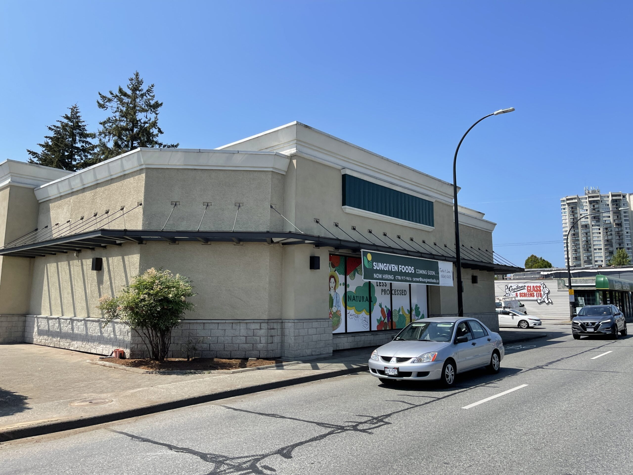 Future Sungiven location under construction in North Vancouver (July 2021)