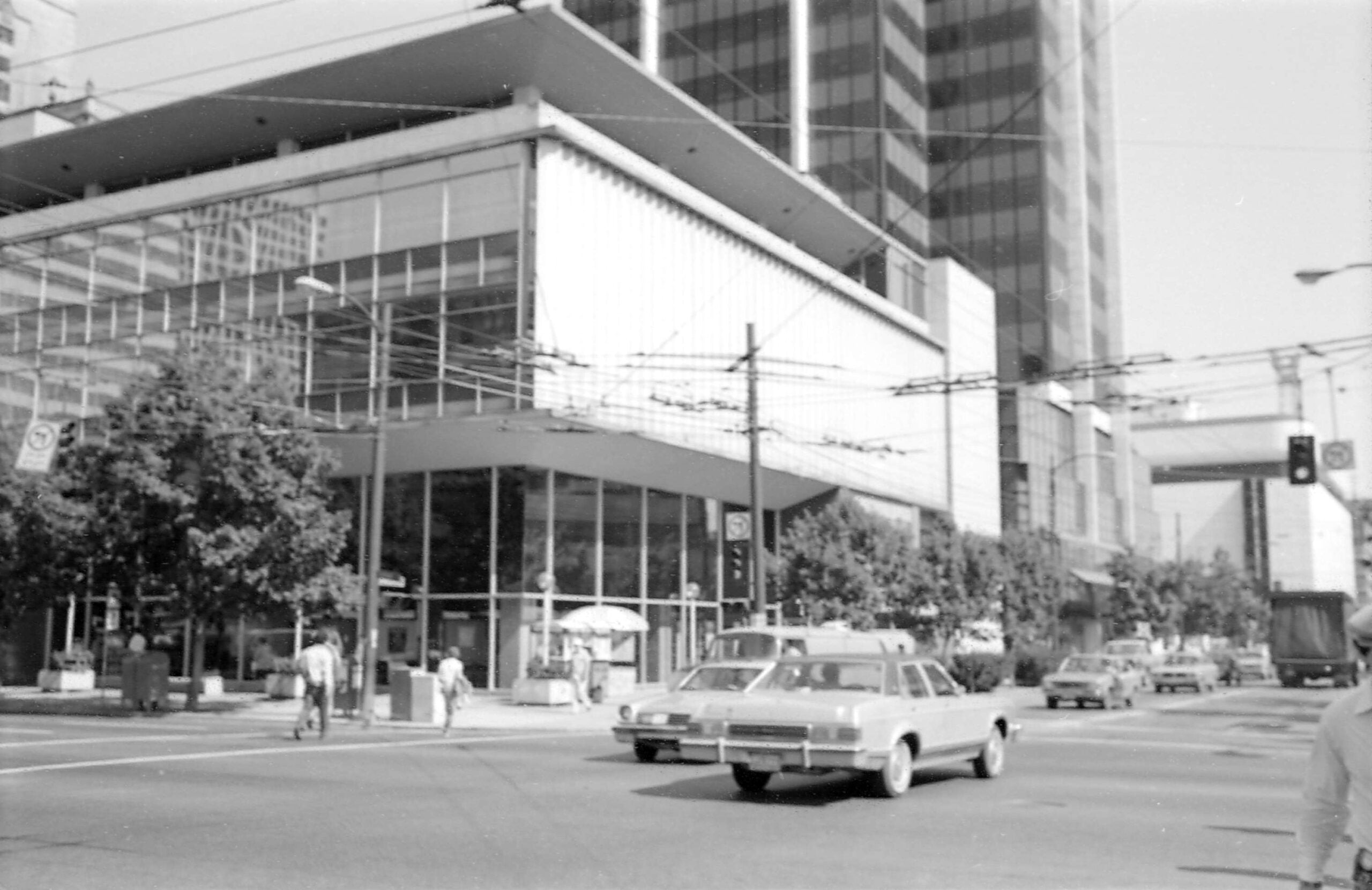 Historical Photo of Robson and Burrard Street in 1981