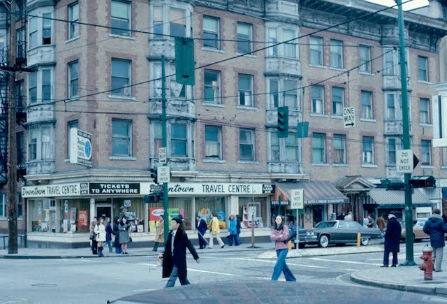 Historical Photo of Thurlow at Robson Street in 1976