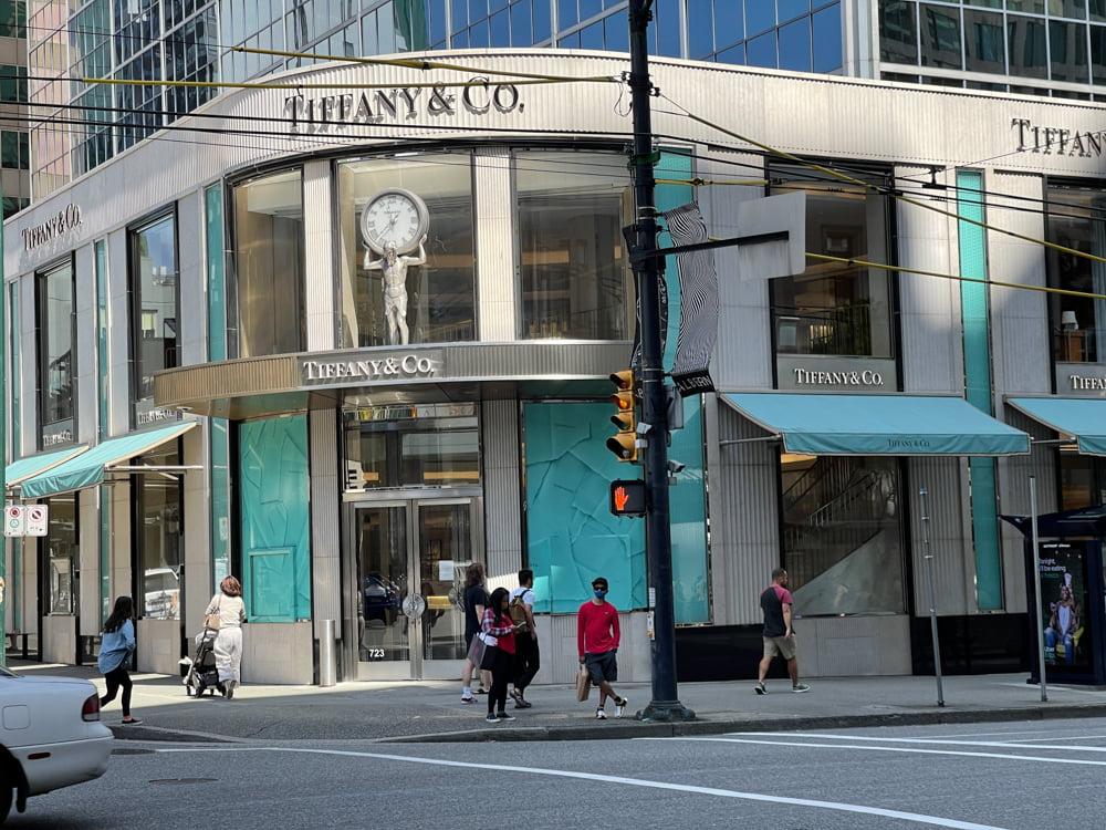Tiffany & Co. on Alberni Street in Vancouver (June 2021)