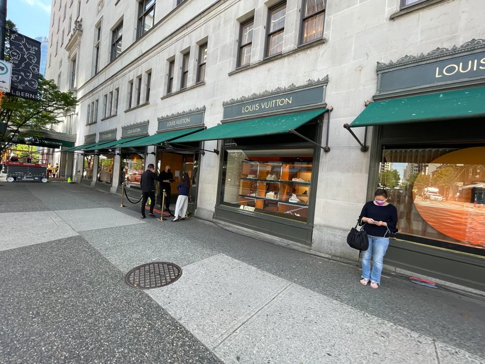 Louis Vuitton exterior at Fairmont Hotel Vancouver (June 2021)