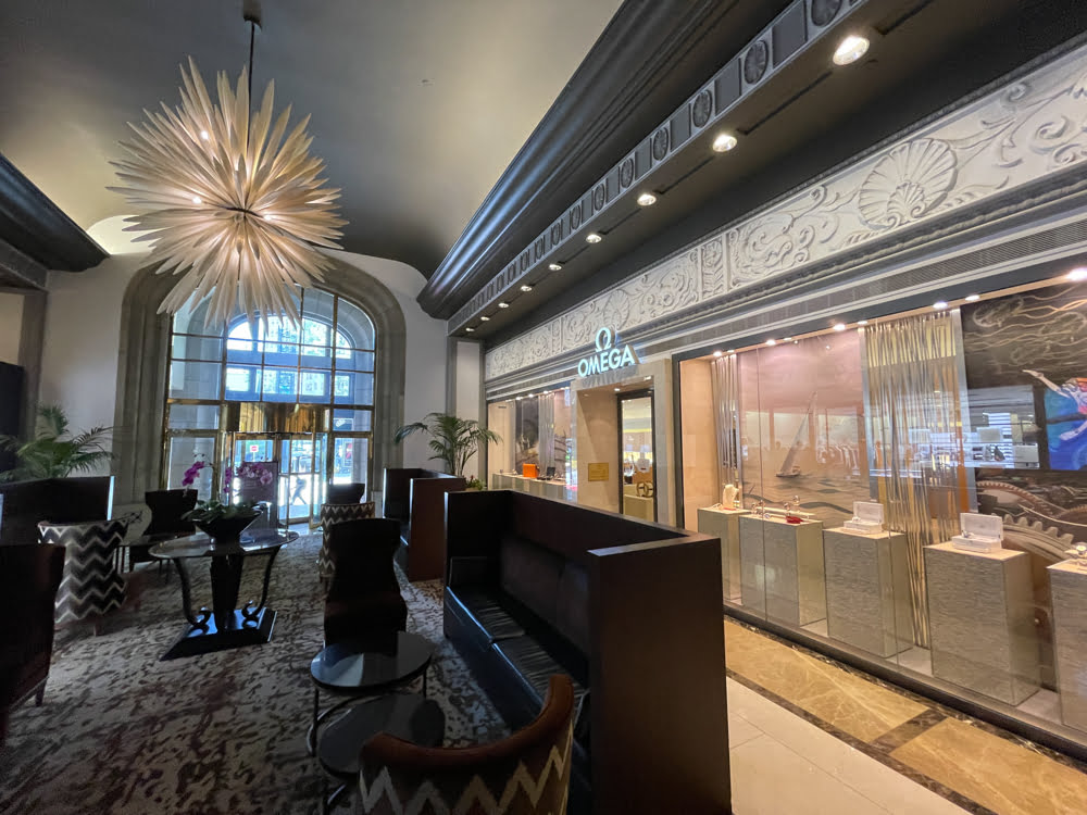 OMEGA interior entrance at Fairmont Hotel Vancouver (June 2021)
