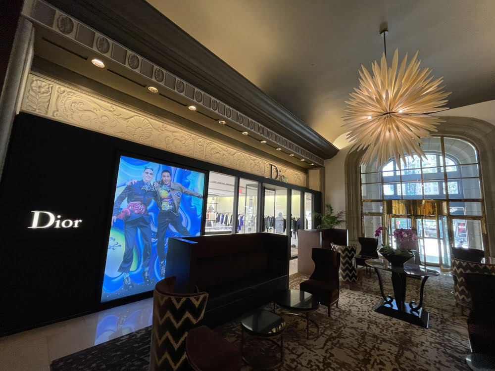 Dior Flagship at Fairmont Hotel Vancouver (June 2021)