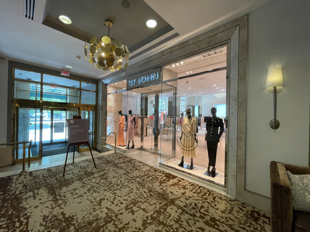 St John interior entrance at Fairmont Hotel Vancouver (June 2021)