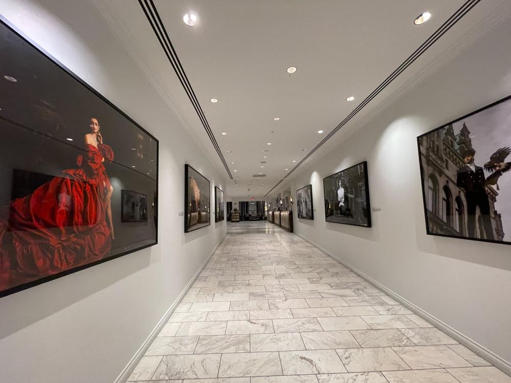 Hotel Corridor from Luxury Retailer Space to Front Desk (June 2021)