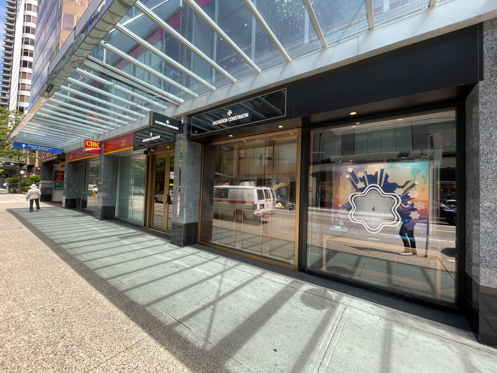 Vacheron Constantin on Alberni Street in Vancouver (June 2021)