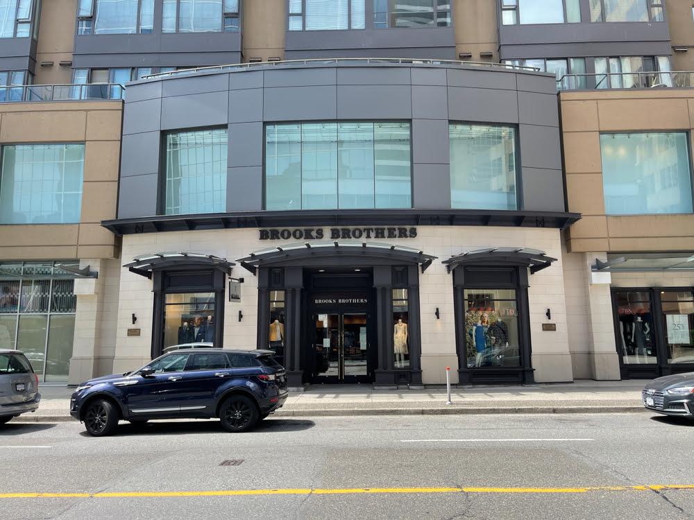 Brooks Brothers on Alberni Street in Vancouver (June 2021)