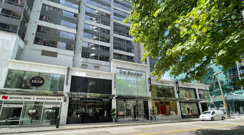 Western Portion of 1000 block of Alberni Street in Vancouver (June 2021)