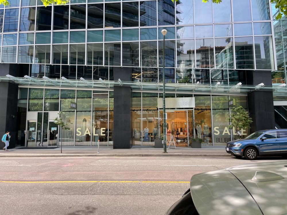 BluBird on Alberni in Vancouver (June 2021)