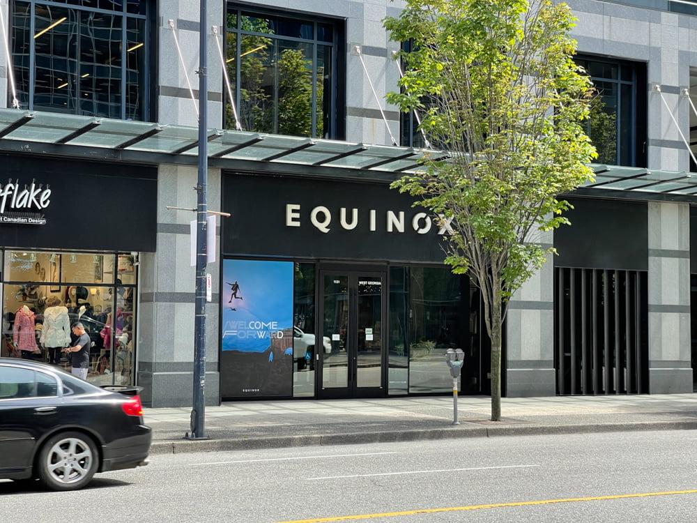 Equinox on West Georgia Street in Vancouver (June 2021)