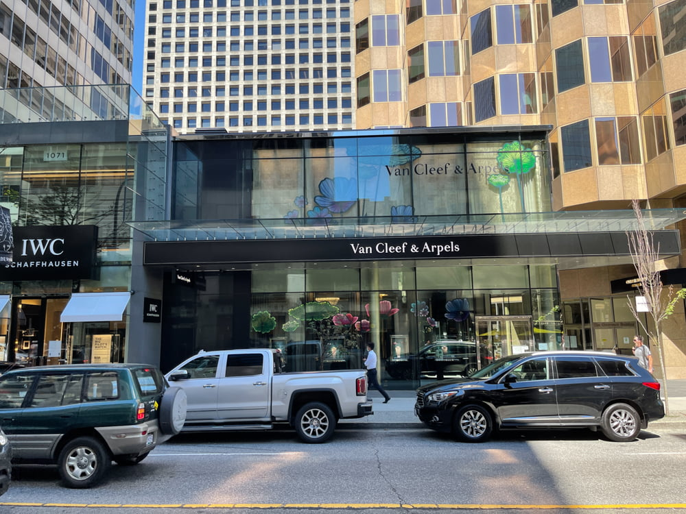 Van Cleef & Arpels on Alberni Street in Vancouver (June 2021)