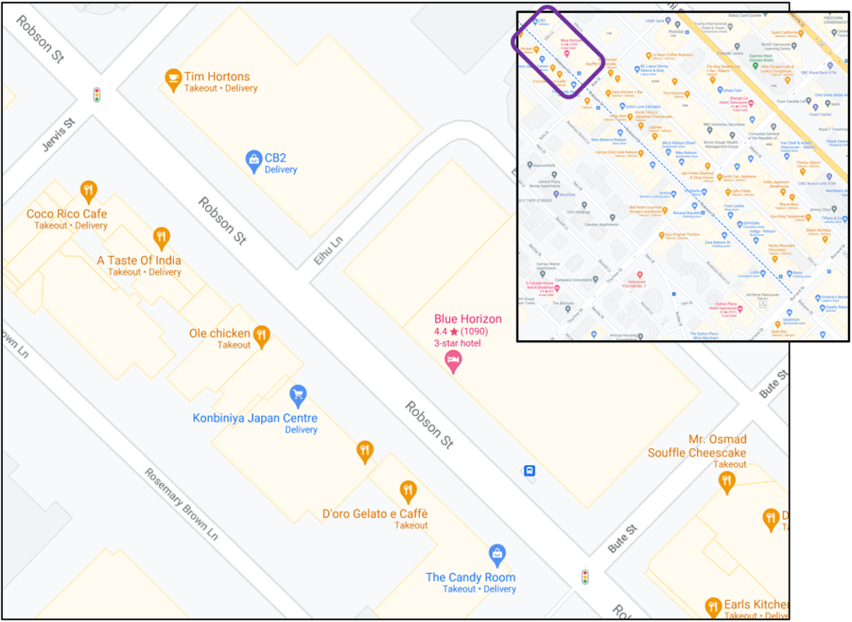 1200 block of Robson Street in Vancouver