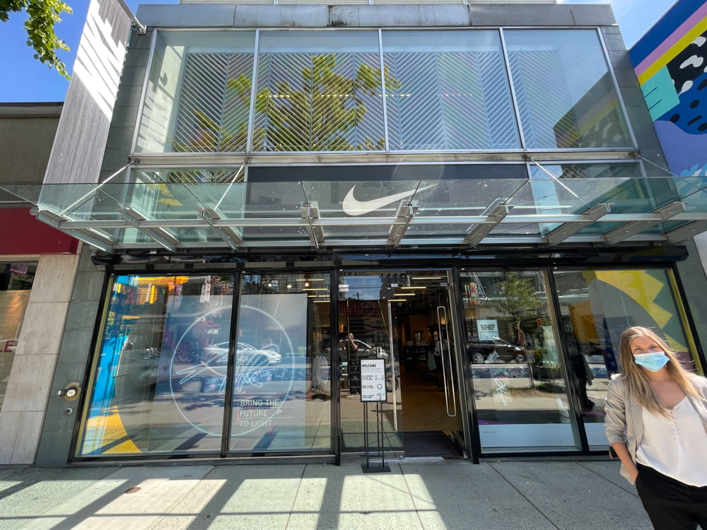 Nike on Robson Street in Vancouver (June 2021)