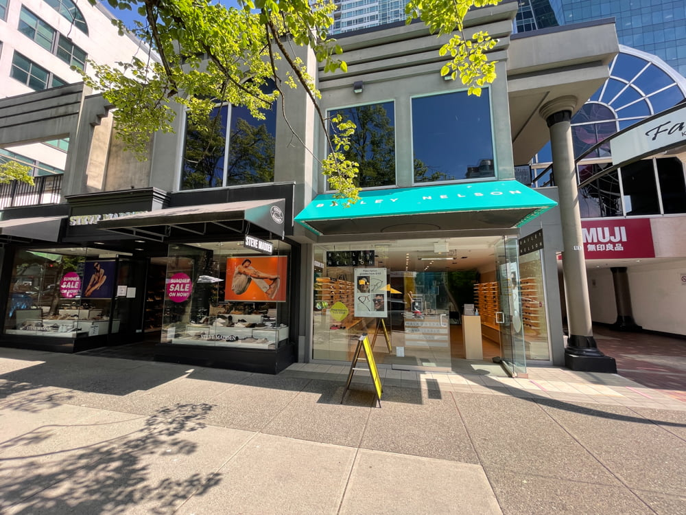 Baily Nelson and Steve Madden on Robson Street