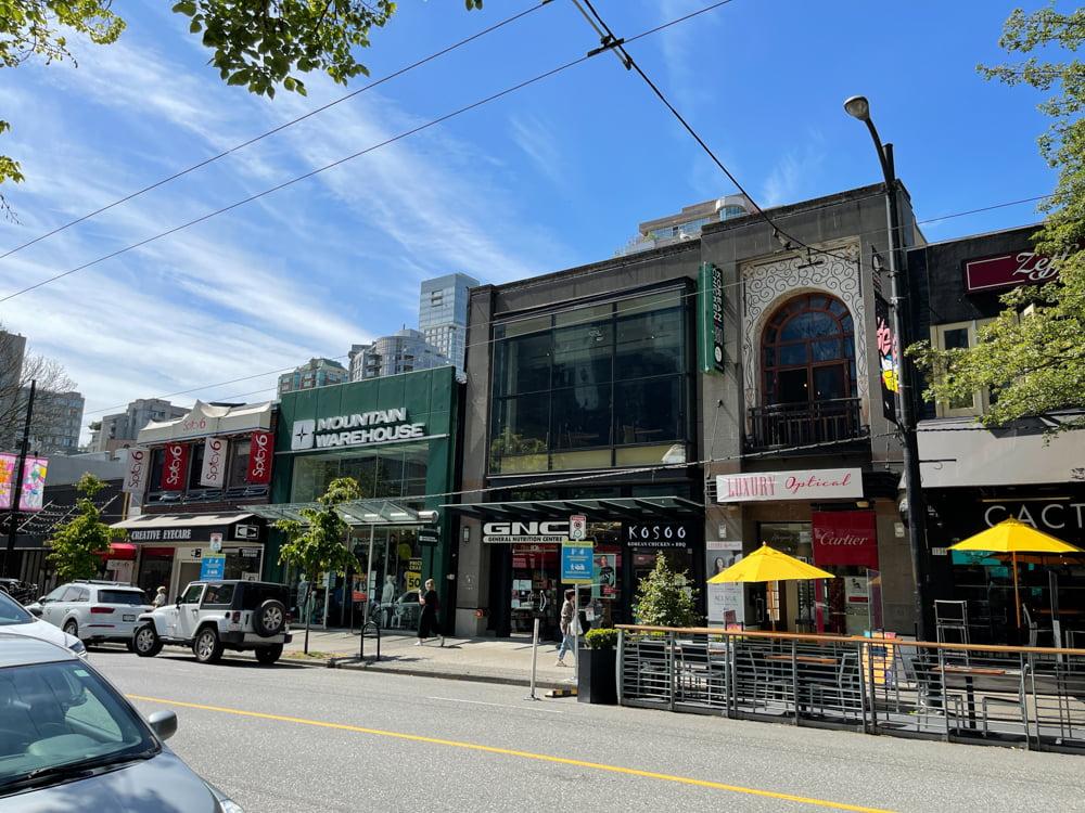 1100 block of Robson Street in Vancouver (June 2021)