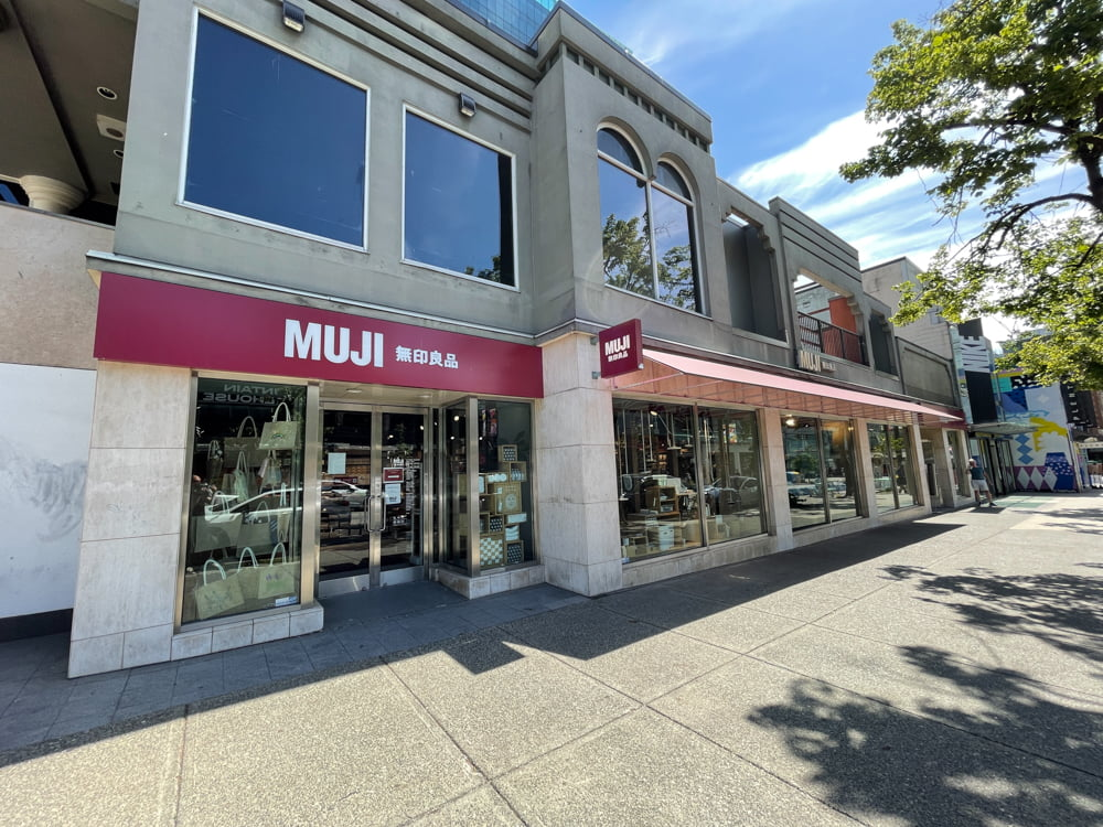 Muji on Robson Street in Vancouver