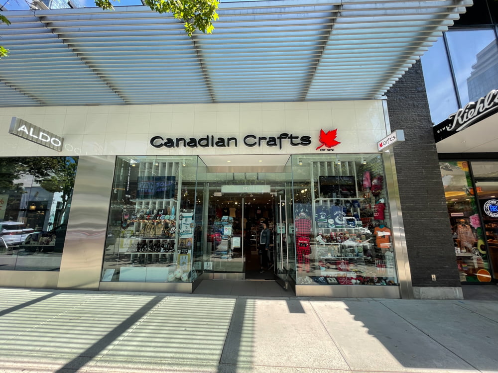 Canadian Crafts on Robson Street (June 2021)