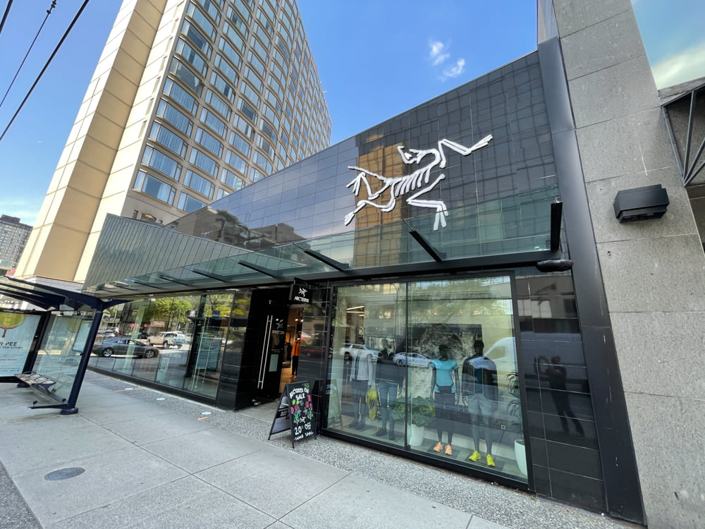 Arc'teryx on Robson Street in Vancouver (June 2021)