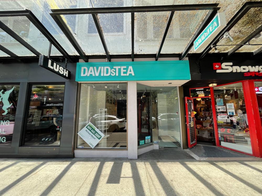 Former David's Tea location on Robson Street (June 2021)