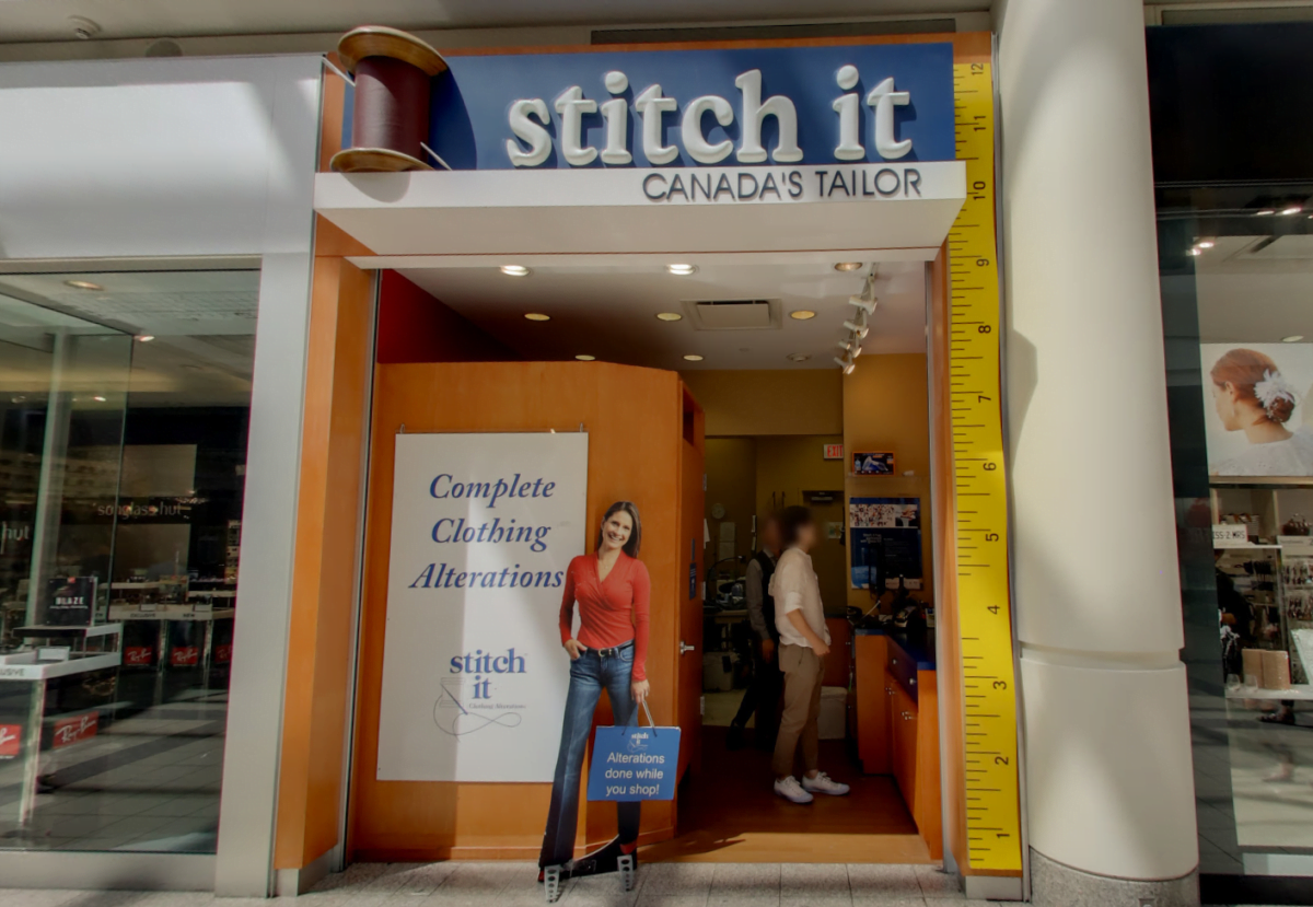 Former location of Stitch It Tailor at Metropolis at Metrotown June 2018)