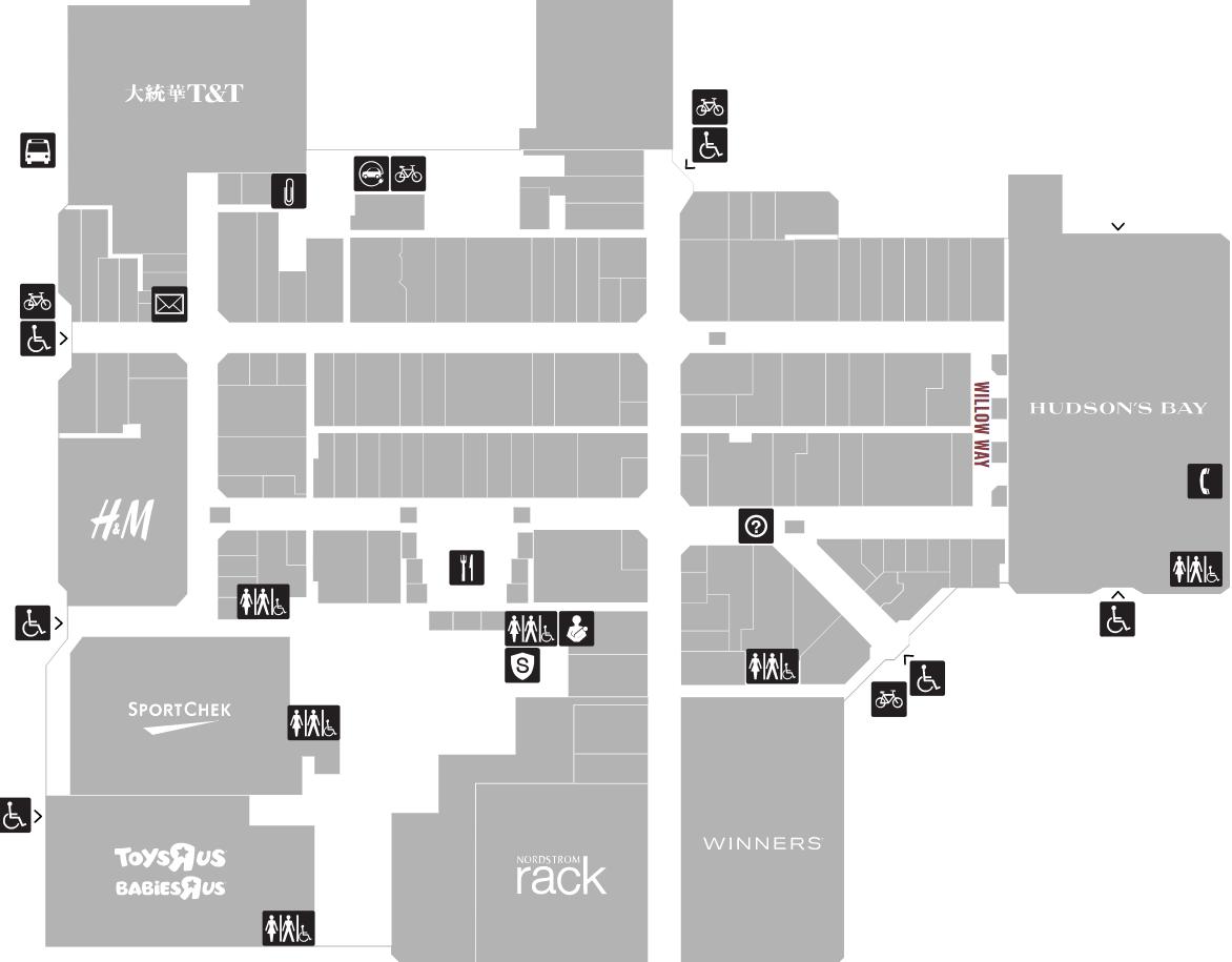 Willowbrook Mall Map
