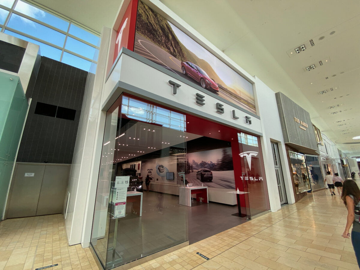 Tesla at Yorkdale Shopping Centre