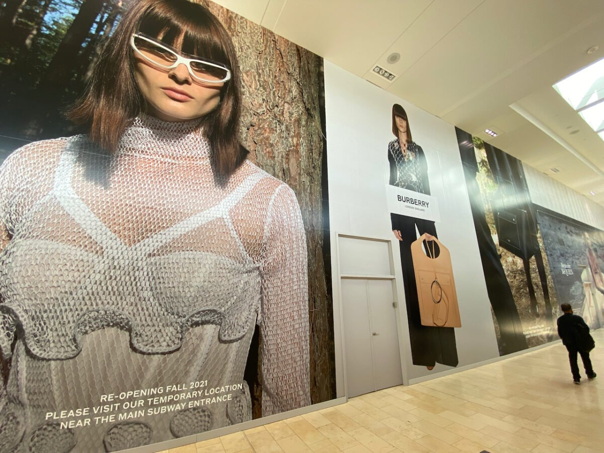 Burberry Construction at Yorkdale Shopping Centre