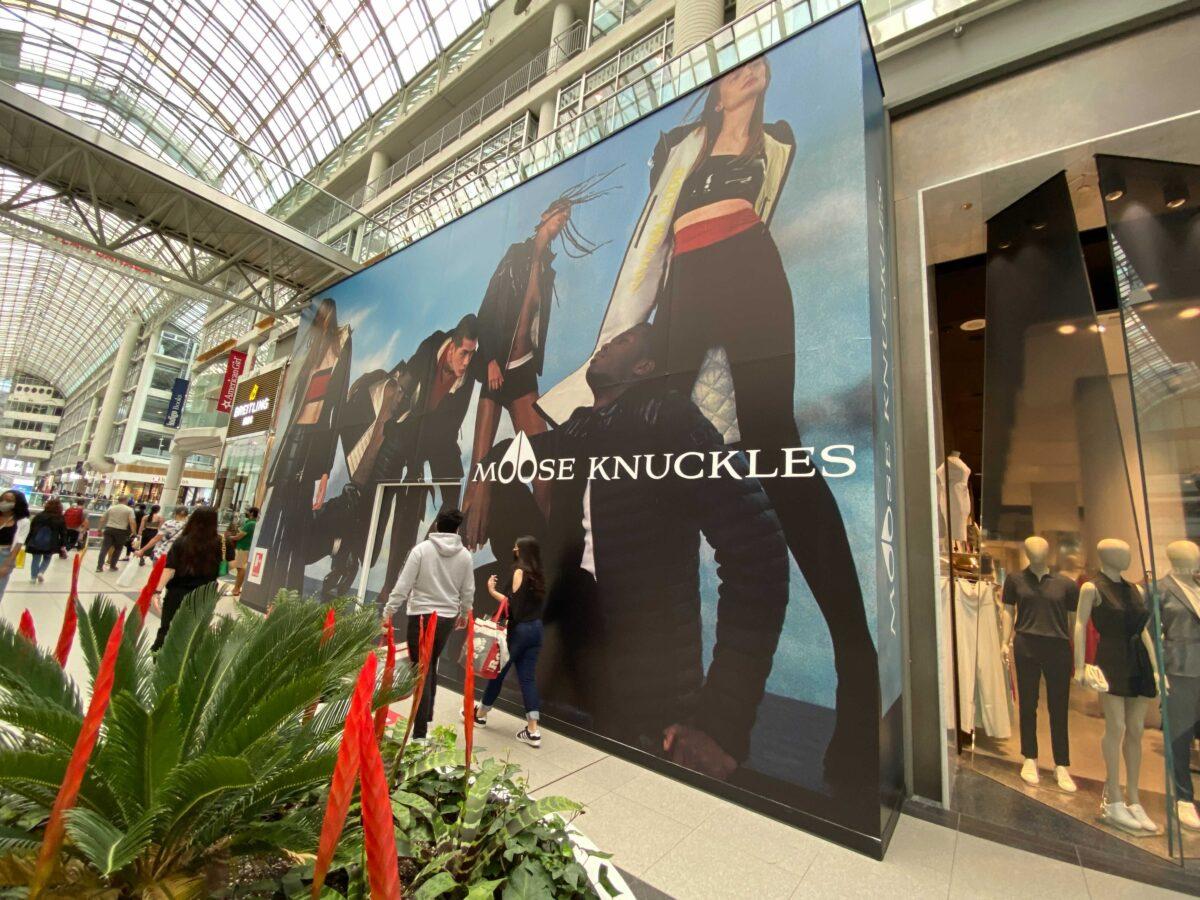 Moose Knuckles Construction at CF Toronto Eaton Centre