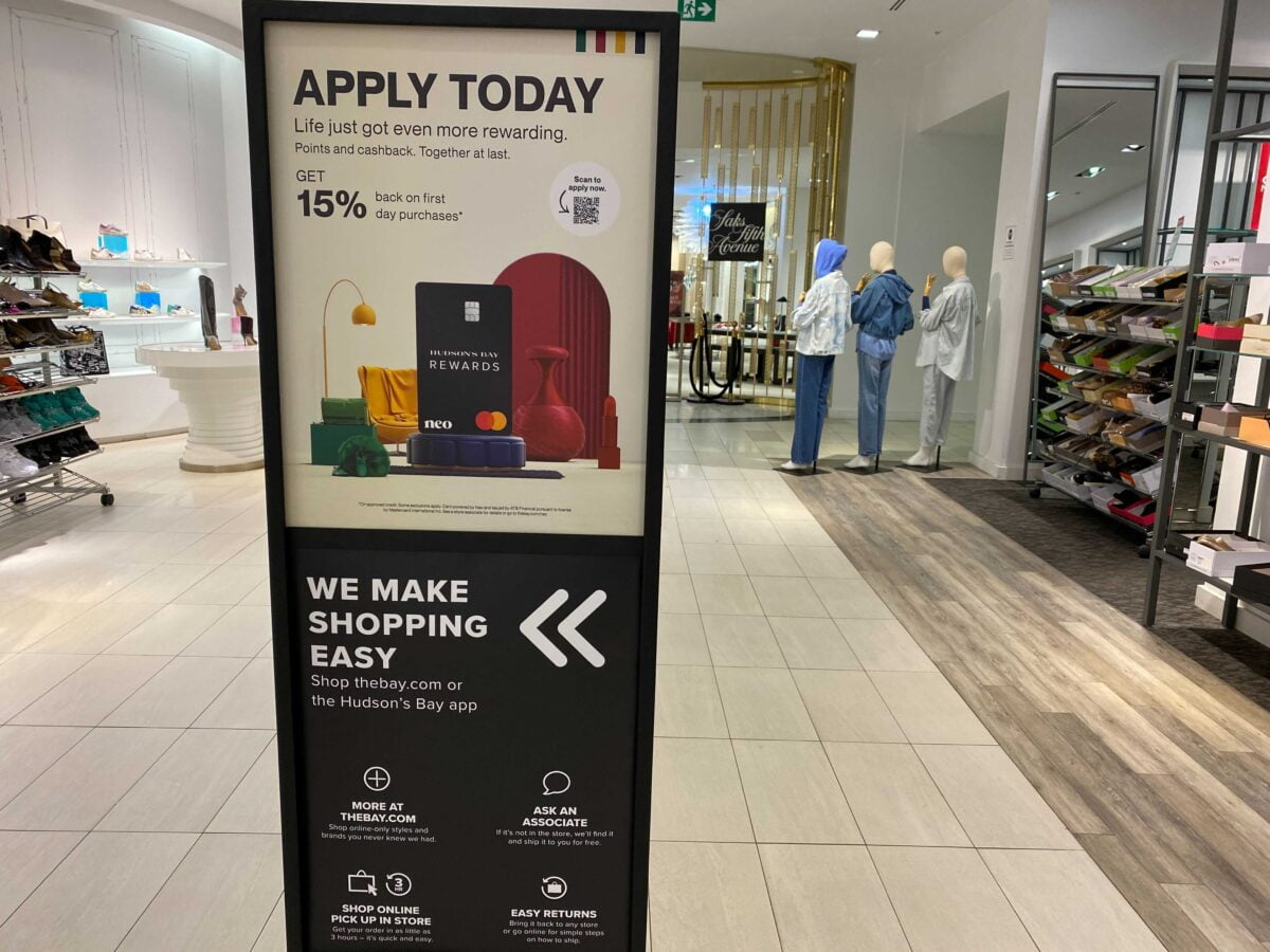 In-Store Marketing at Hudson's Bay