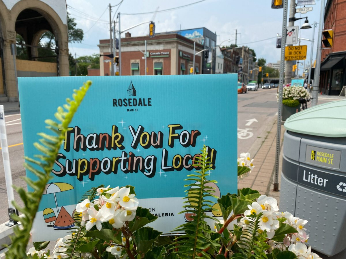 Rosedale BIA Supporting Local