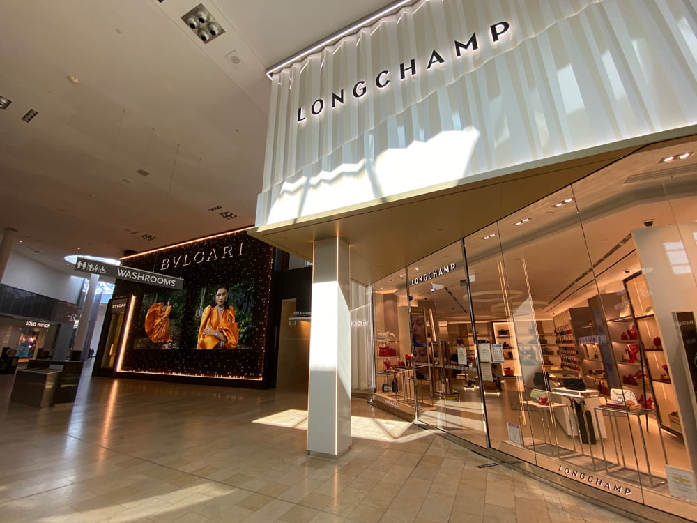 Bvlgari and Longchamp at Yorkdale. Photo by Dustin Fuhs
