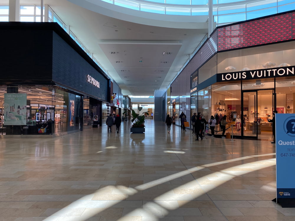 Sephora and Louis Vuitton at Yorkdale. Photo: Dustin Fuhs