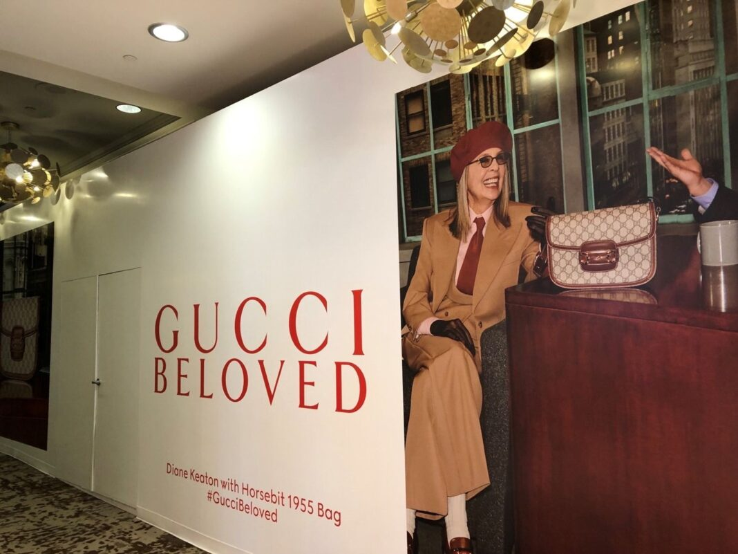 Gucci Construction Signage at Fairmont Hotel Vancouver (Oct 2021)